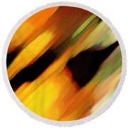 Round Beach Towel featuring the painting Sivilia 8 Abstract by Donna Corless