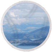 Six Islands  Round Beach Towel by George Katechis