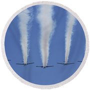 Round Beach Towel featuring the photograph Six Roolettes In Formation by Miroslava Jurcik