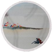 Six Seasons Dance One Round Beach Towel