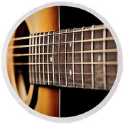 Six String Guitar Round Beach Towel