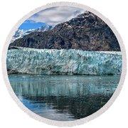 Size Perspective No Margerie Glacier Round Beach Towel