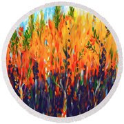 Sizzlescape Round Beach Towel by Holly Carmichael