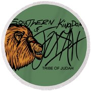 Sk Of Judah Round Beach Towel