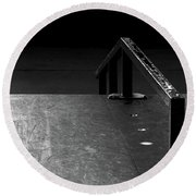 Round Beach Towel featuring the photograph Skateboard Ramp II by Richard Rizzo
