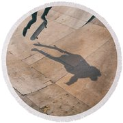 Skater Boy 001 Round Beach Towel