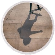 Skater Boy 002 Round Beach Towel
