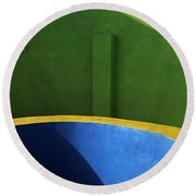 Skc 0305 The Fundamental Colors Round Beach Towel