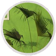 Skc 0683 Nature Outside Round Beach Towel