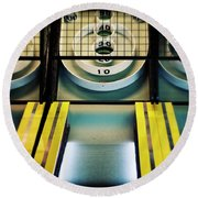 Skeeball Arcade Photography Round Beach Towel by Melanie Alexandra Price