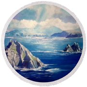 Skelligs Ireland Round Beach Towel