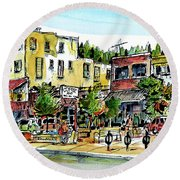 Sketch Crawl In Truckee Round Beach Towel