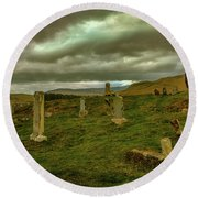Skies And Headstones #g9 Round Beach Towel