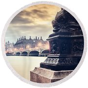 Skies Over London Round Beach Towel