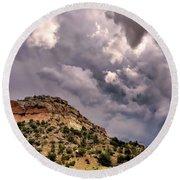Skies Over Montana Round Beach Towel by Gina Savage