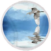 Skimming Round Beach Towel by Cyndy Doty