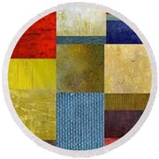 Skinny Color Study Ll Round Beach Towel