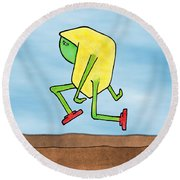 Skip Round Beach Towel by Uncle J's Monsters
