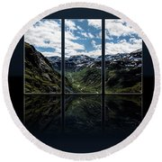 Skjolden Valley Round Beach Towel by Shirley Mangini