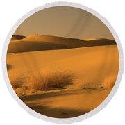 Skn 1124 The Desert Landscape Round Beach Towel by Sunil Kapadia