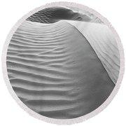 Skn 1414 The Rhythmic Demarcations Round Beach Towel by Sunil Kapadia
