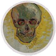 Skull-1 Round Beach Towel