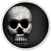 Skull Round Beach Towel