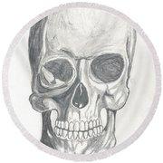 Skull Study 2 Round Beach Towel