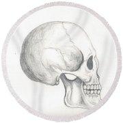 Skull Study Round Beach Towel