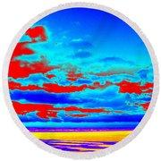 Sky #3 Round Beach Towel
