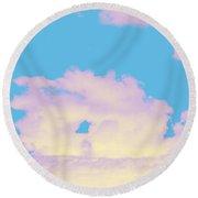 Sky #6 Round Beach Towel