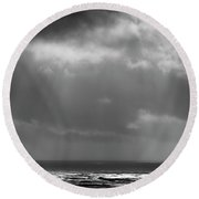 Sky And Ocean Round Beach Towel