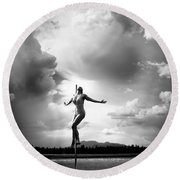 Sky Dancing Round Beach Towel