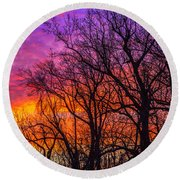 Round Beach Towel featuring the photograph Sky Fantastic by John Harding