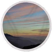 Sky Haze Round Beach Towel
