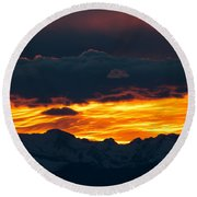 Sky Lava Round Beach Towel by Colleen Coccia