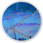 Sky Lights Round Beach Towel