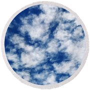 Sky Paint Round Beach Towel