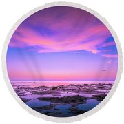 Sky Reflections Round Beach Towel