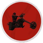 Round Beach Towel featuring the mixed media Sky Rider by Shane Bechler