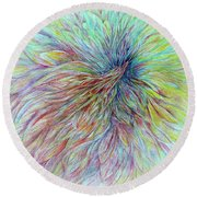 Sky Spirit Round Beach Towel