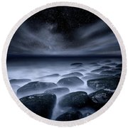 Round Beach Towel featuring the photograph Sky Spirits by Jorge Maia