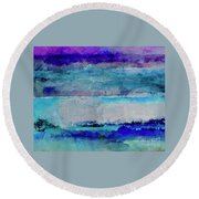 Sky Striations Round Beach Towel