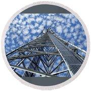 Sky Tower Round Beach Towel by Robert Geary