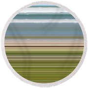 Sky Water Earth Grass Round Beach Towel