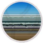 Sky Water Earth Round Beach Towel