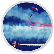 Skydiver Round Beach Towel