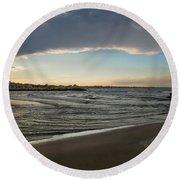 Skylight After Storm Round Beach Towel