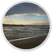 Skylight After Storm Round Beach Towel