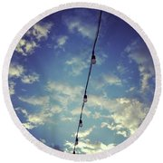 Skylights Round Beach Towel